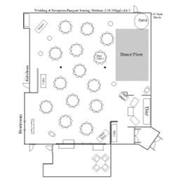 Wedding & Reception Chapel/Banquet Floor Plan 2