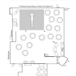 Wedding Reception/Banquet Floor Plan 1