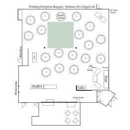 Wedding Reception/Banquet Floor Plan 3
