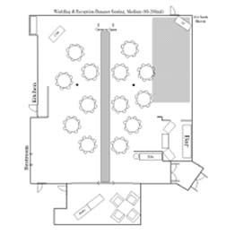 Wedding & Reception - Banquet Seating Floor Plan Medium