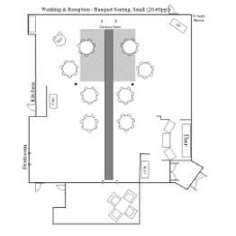 Wedding & Reception- Banquet Seating Small Floor Plan