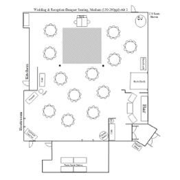 Wedding & Reception Chapel/Banquet Floor Plan 3