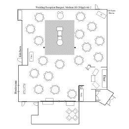 Wedding Reception/Banquet Floor Plan 2