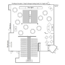 Wedding & Reception Chapel Small Floor Plan 1