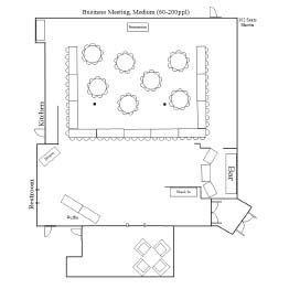 Business Meeting Medium Floor Plan