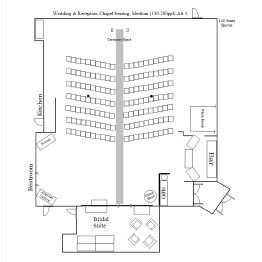 Wedding & Reception Chapel/Banquet Floor Plan 1
